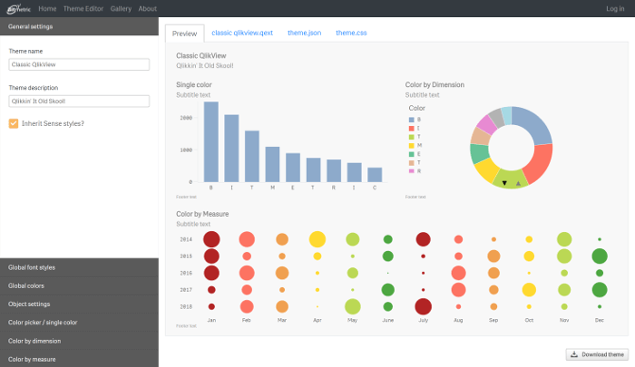Visual Theme Editor for Qlik Sense The Qlik Fix!