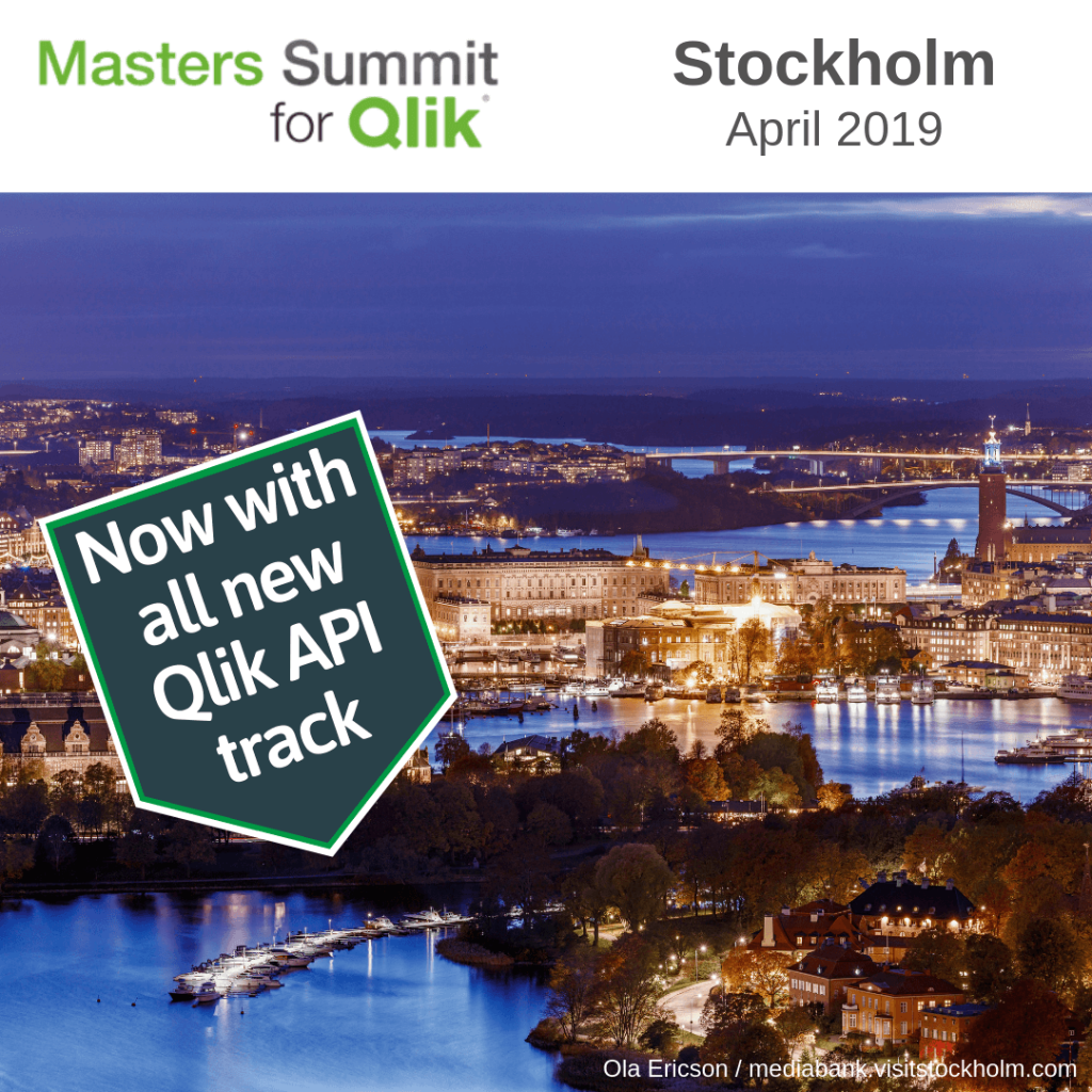 Masters Summit for Qlik Stockholm April 2019