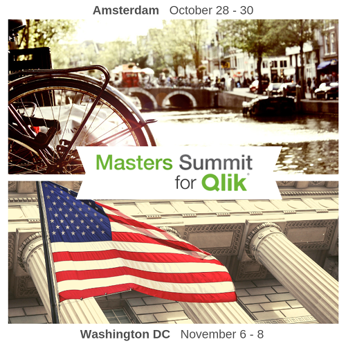 Masters Summit for Qlik - Amsterdam - Washington DC