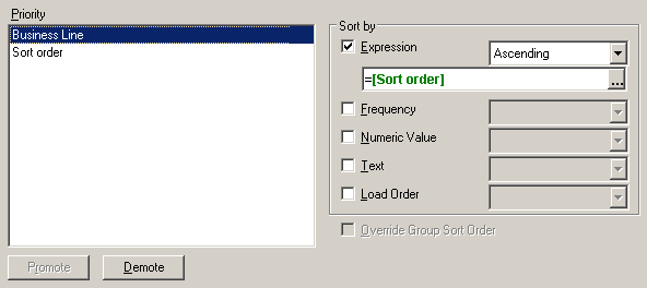 Custom sort using an extra field in the load script.