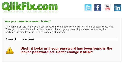 Check if your LinkedIn password was leaked.