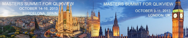 Masters Summit for QlikView; London and Barcelona
