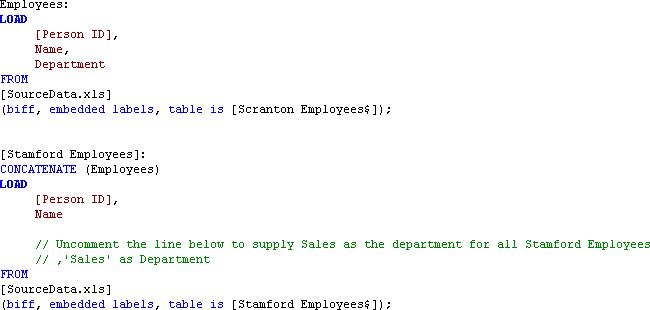 Explicit concatenation