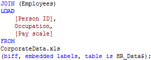 Join script example